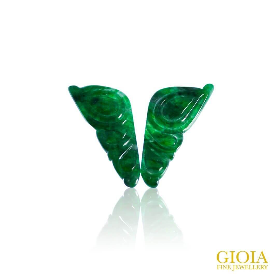 Butterfly Shape Green Jade