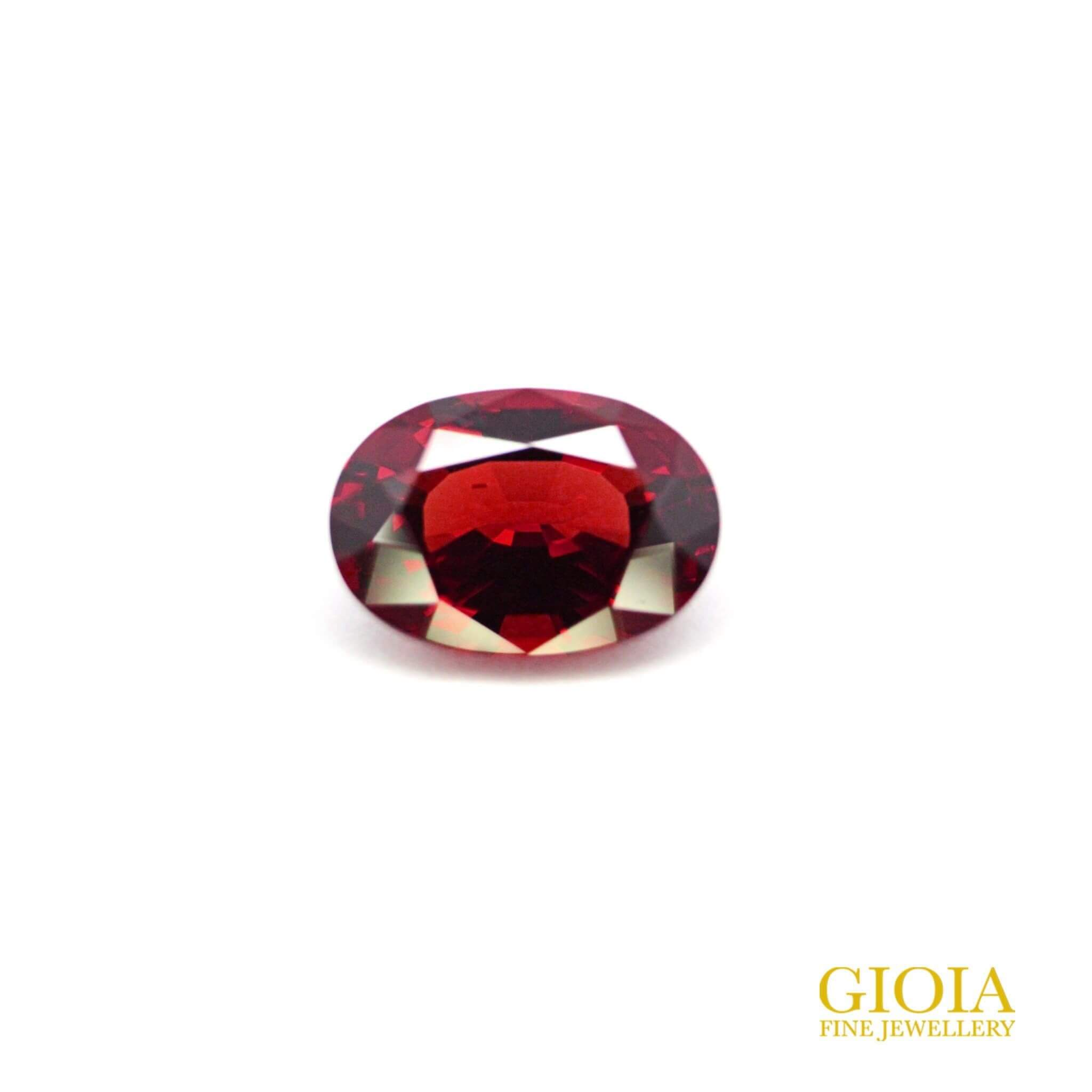 red spinel for customised engagement ring