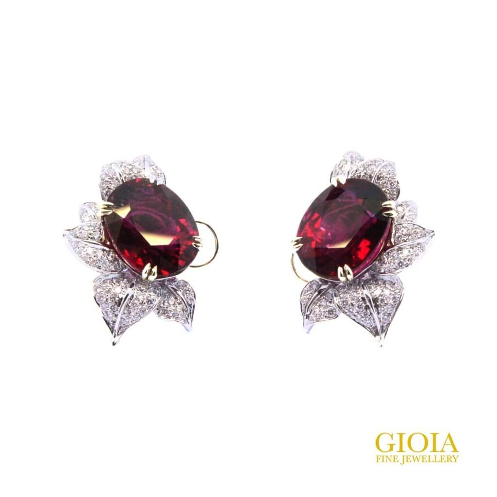 customised jewellery with rubelite tourmaline