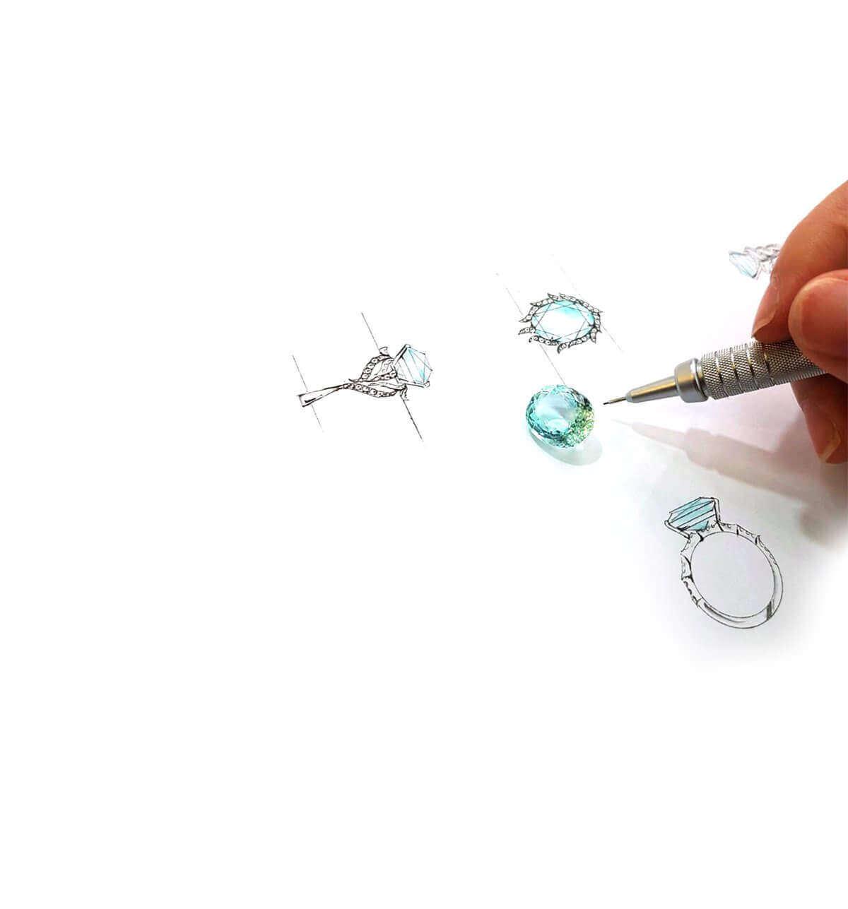 Bespoke customised Feather Ring