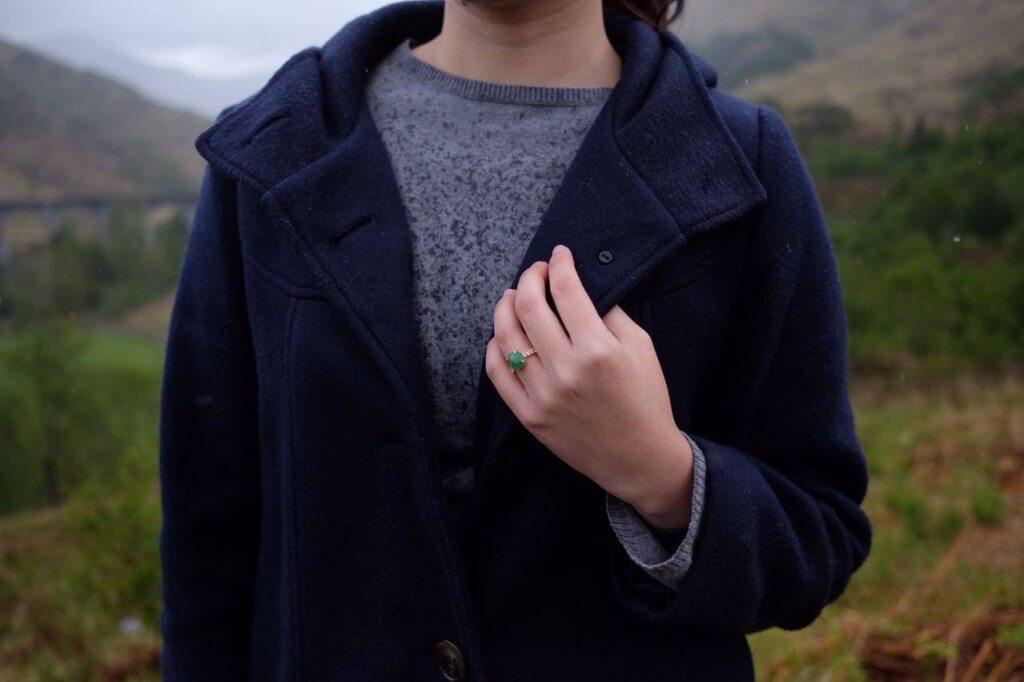 Bespoke customised Customised Jade Wedding Engagement Ring