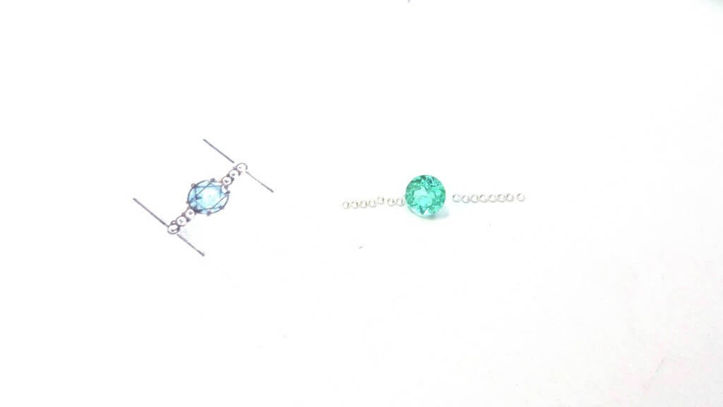 customised engagement ring paraiba tourmaline