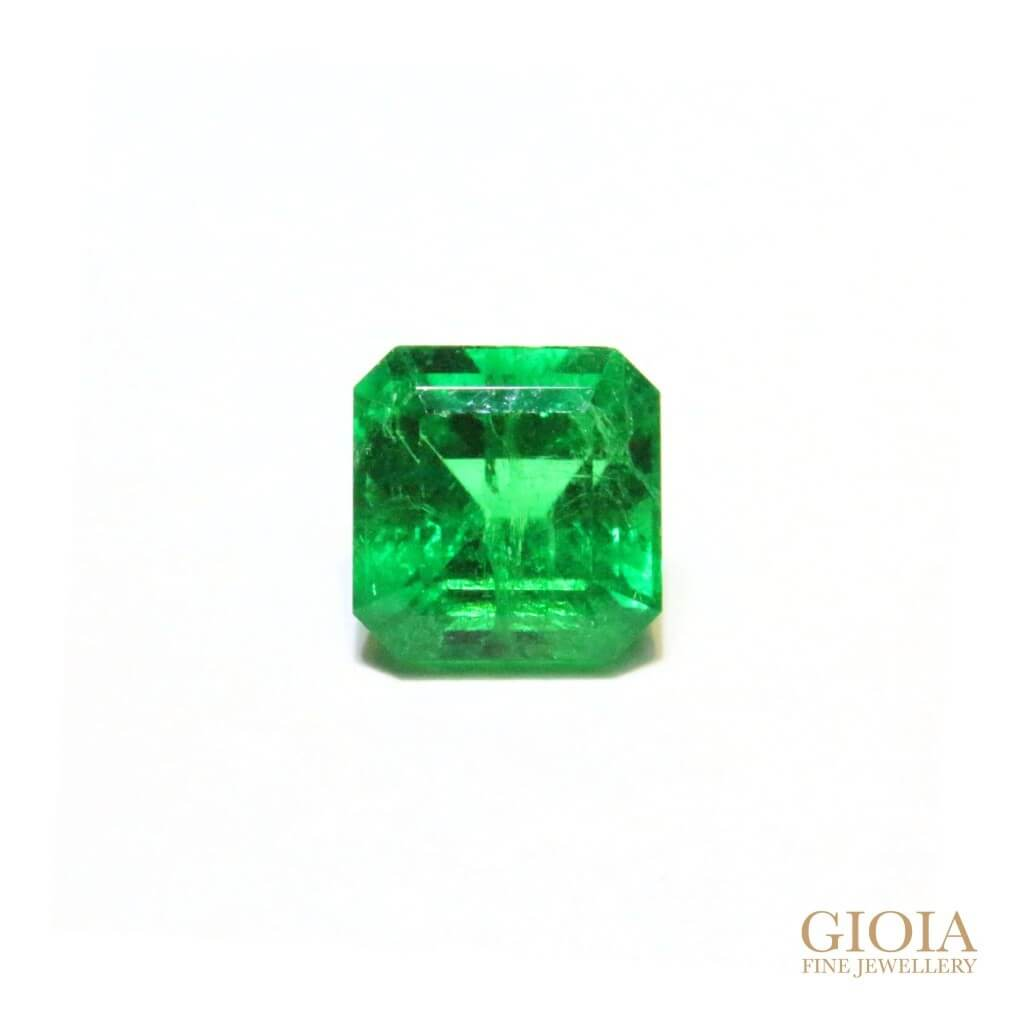 Customised jewellery, Afghan emerald GIOIA Fine Jewellery for wedding engagement ring