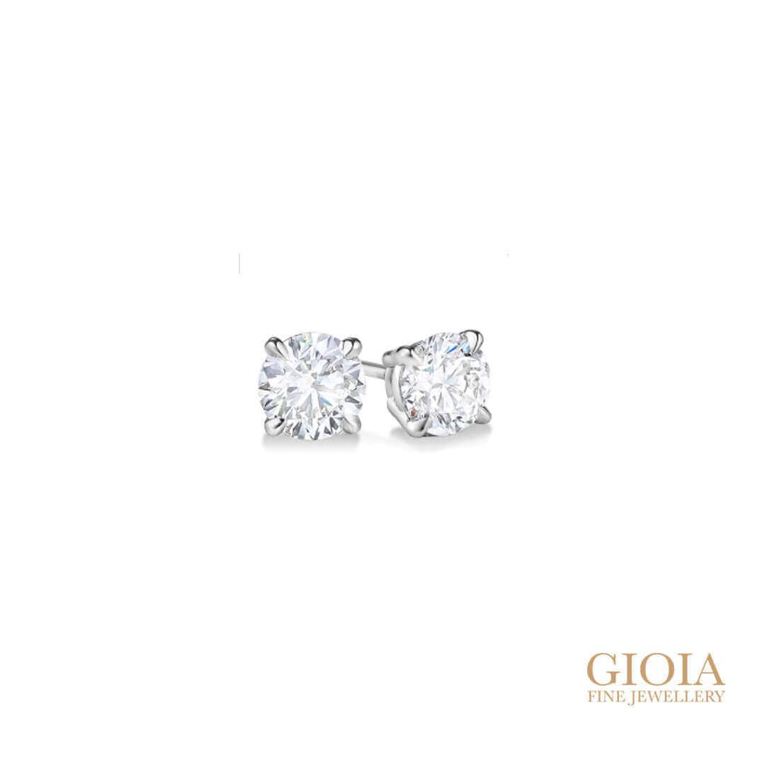 customised diamond earring stud