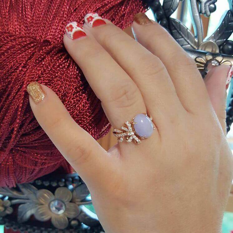 customised Lavender Jade Ring