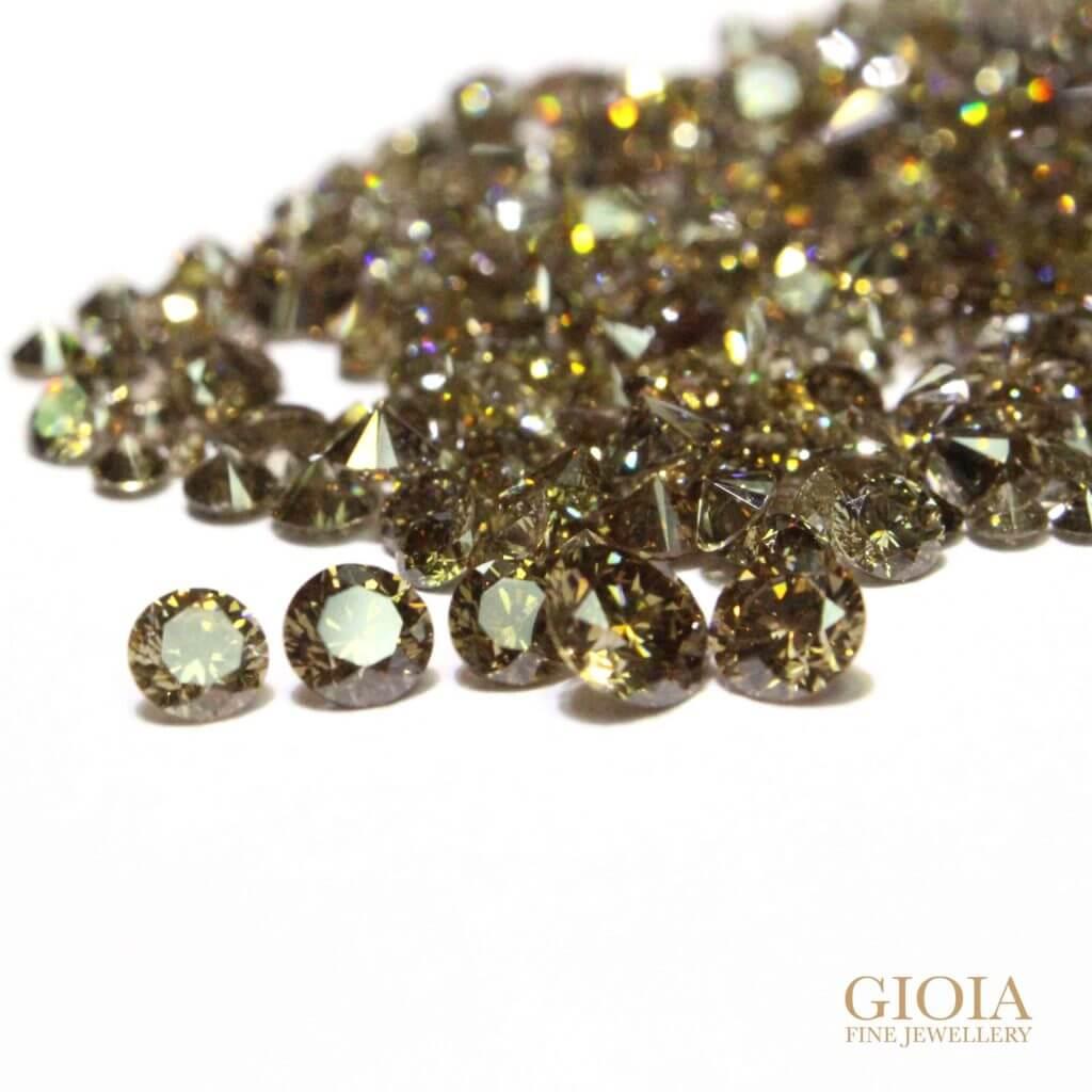 customised brown diamond full eternity ring