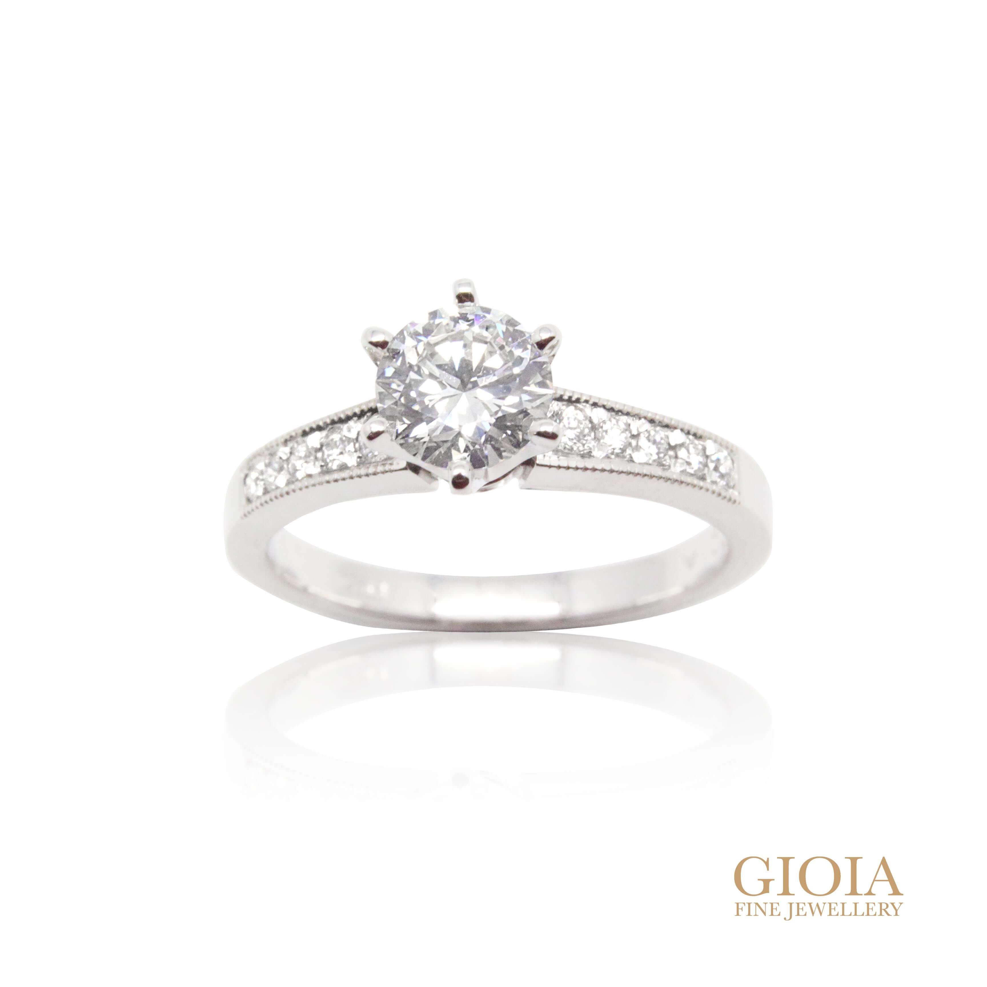 custom made diamond engagement Ring