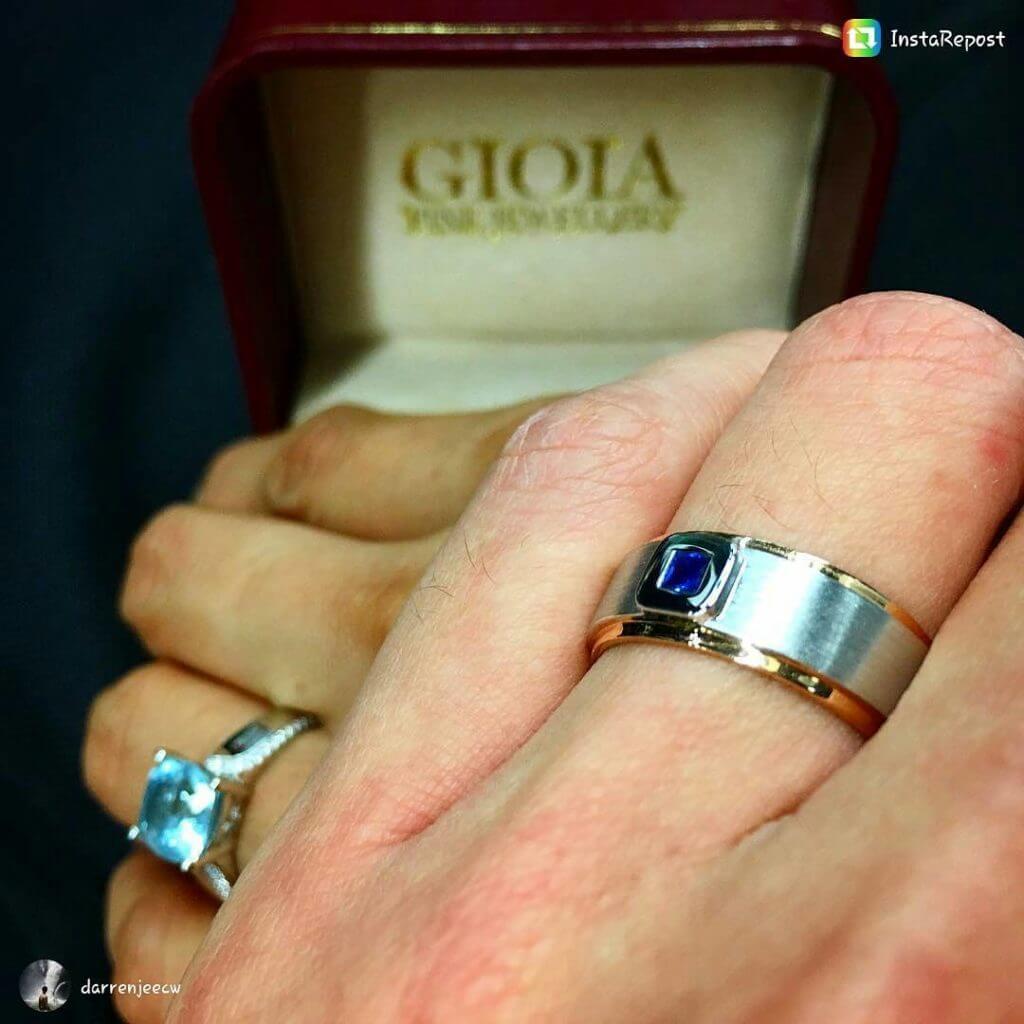 customised Gemstone Wedding bands