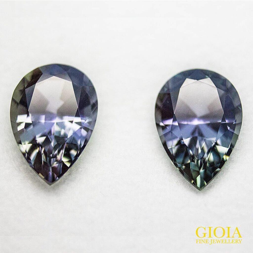 customized jewellery with tanzanite earring