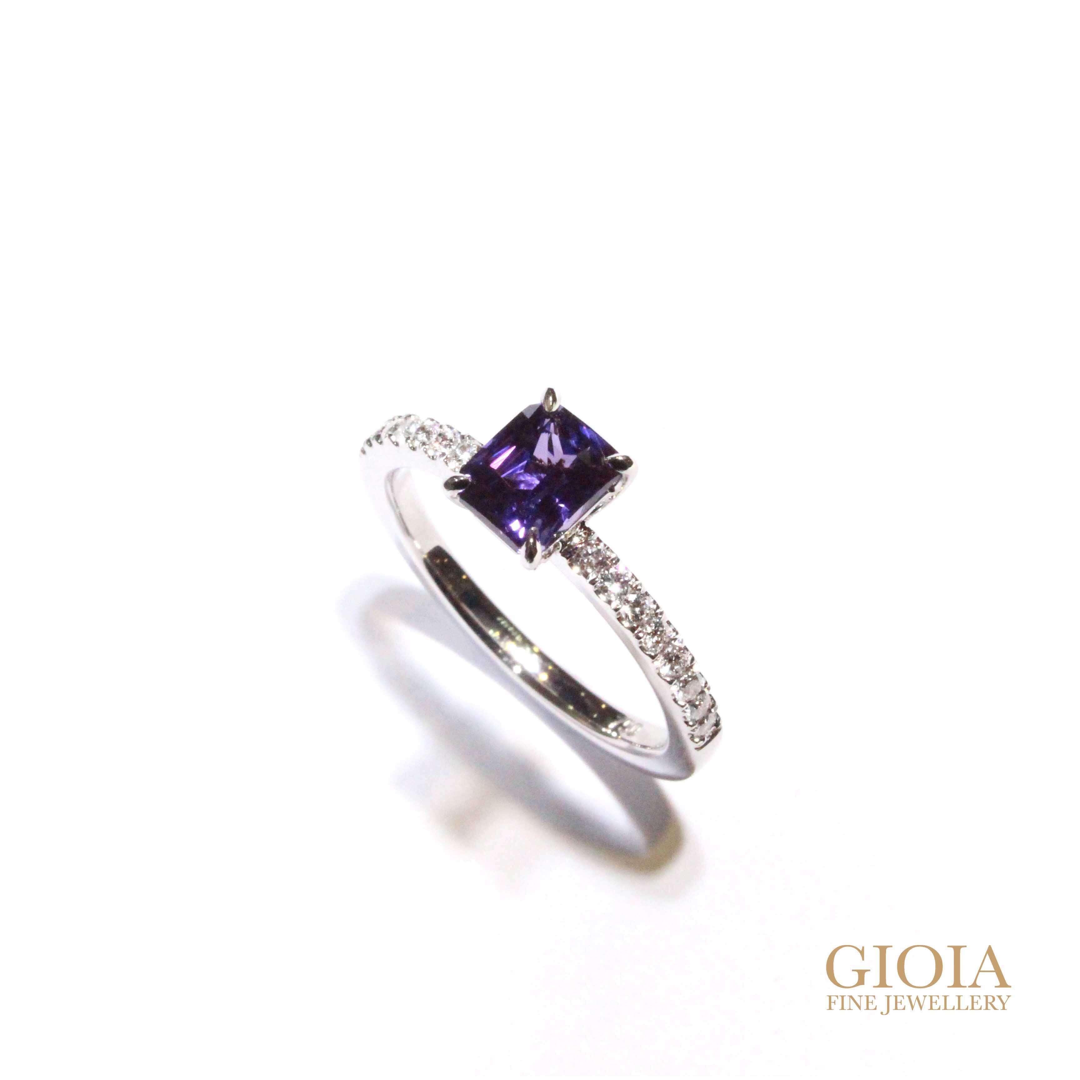 customised sapphire engagement ring - Custom made Jewellery GIOIA Fine Jewellery