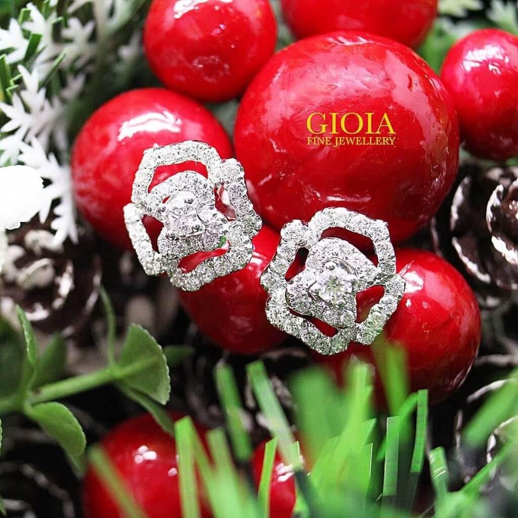 Custom made jewellery - Rose diamond earring