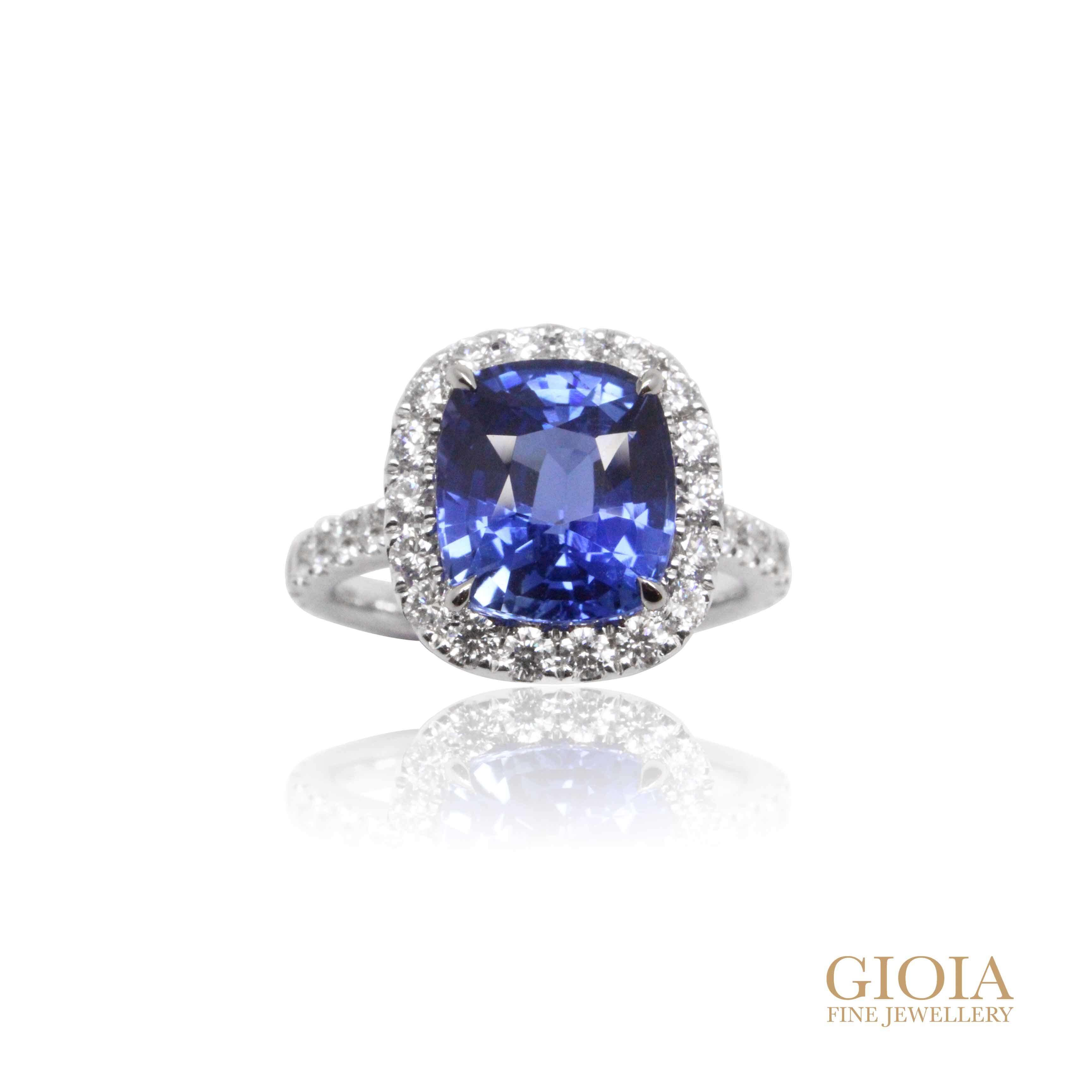 Blue Sapphire Engagement Ring