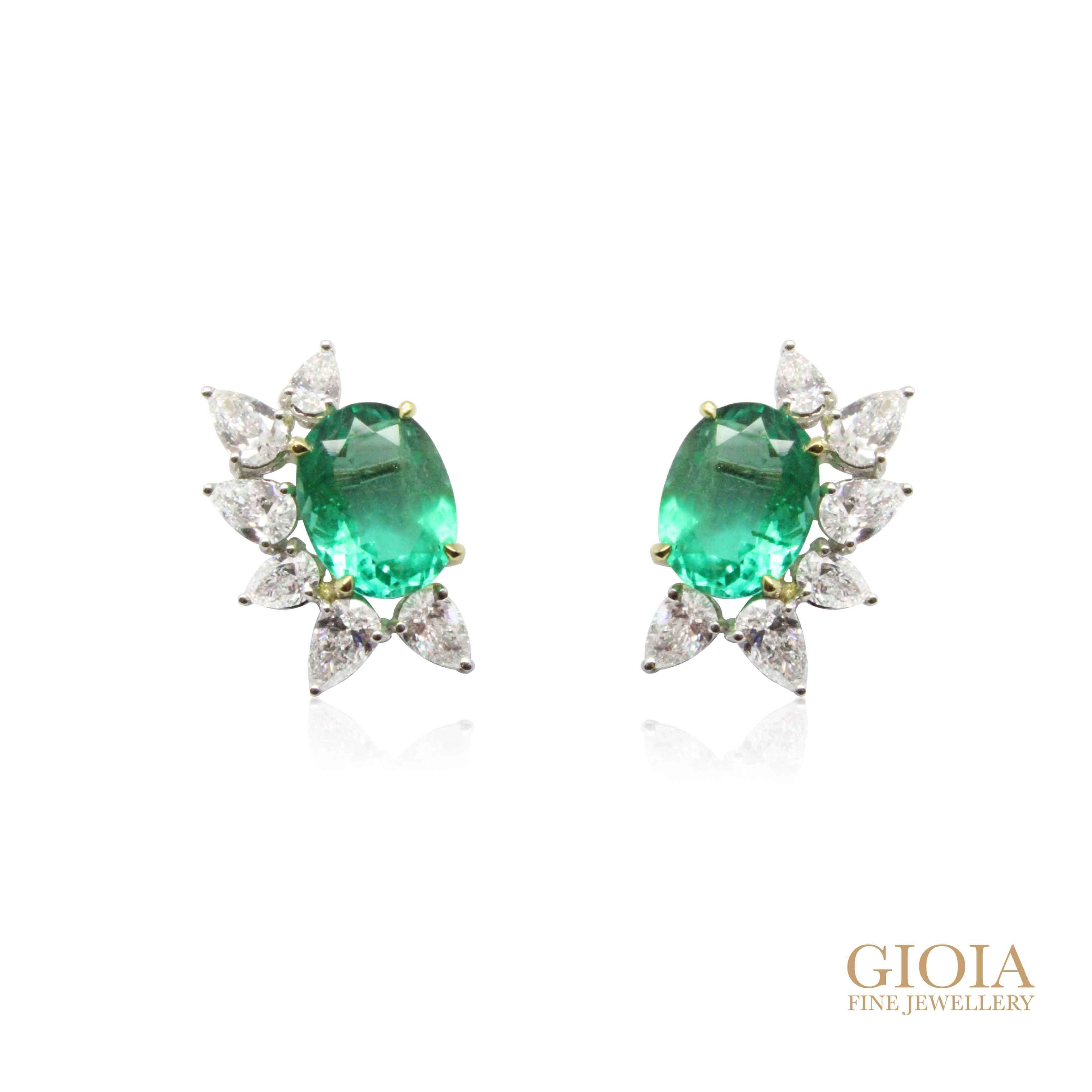 Custom made Emerald Earring - Local Singapore Customised Jeweller