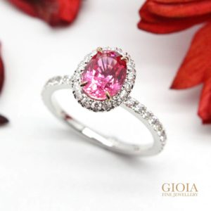customized pink spinel ring for engagement ring | GIOIA Fine Jewellery