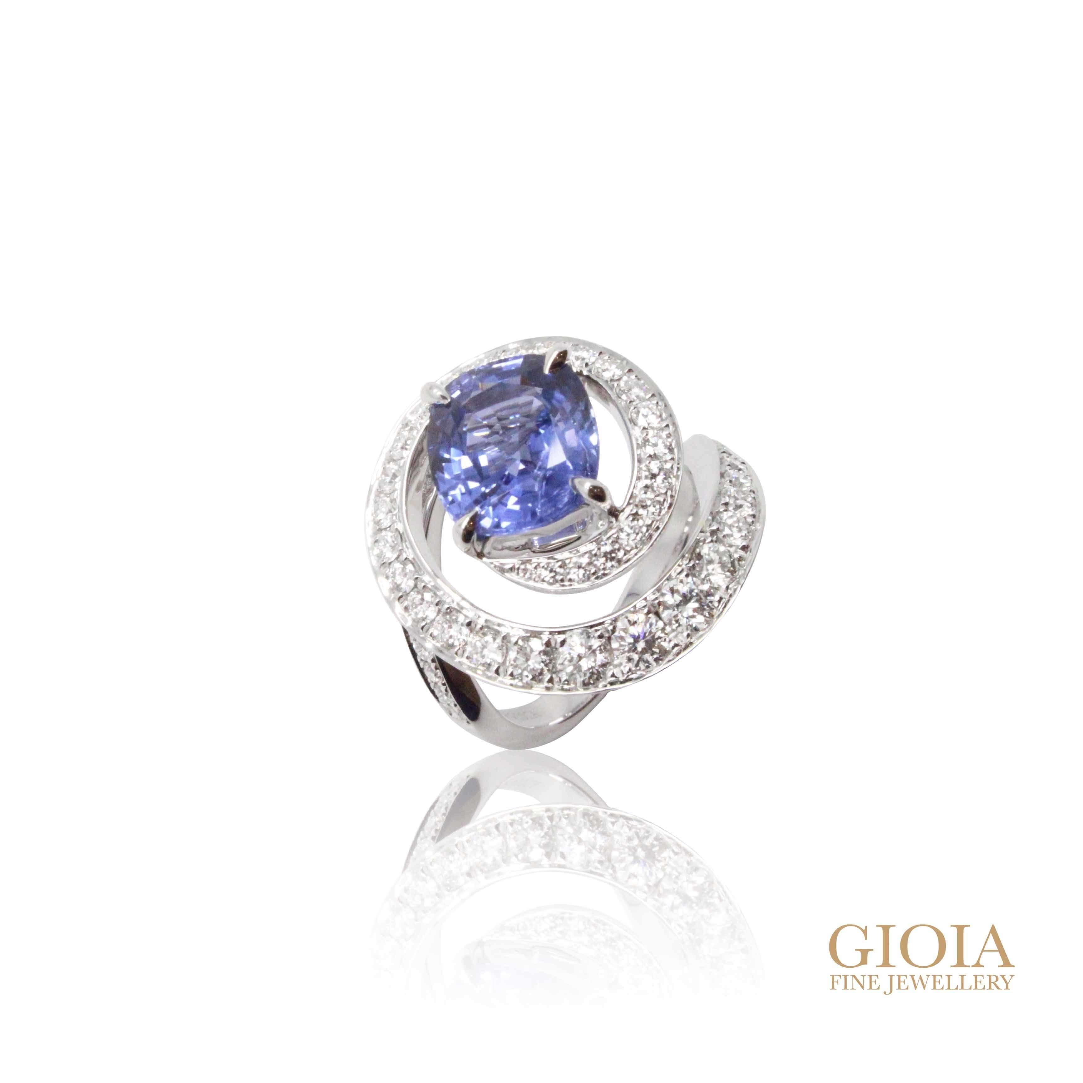Spiral Blue Sapphire