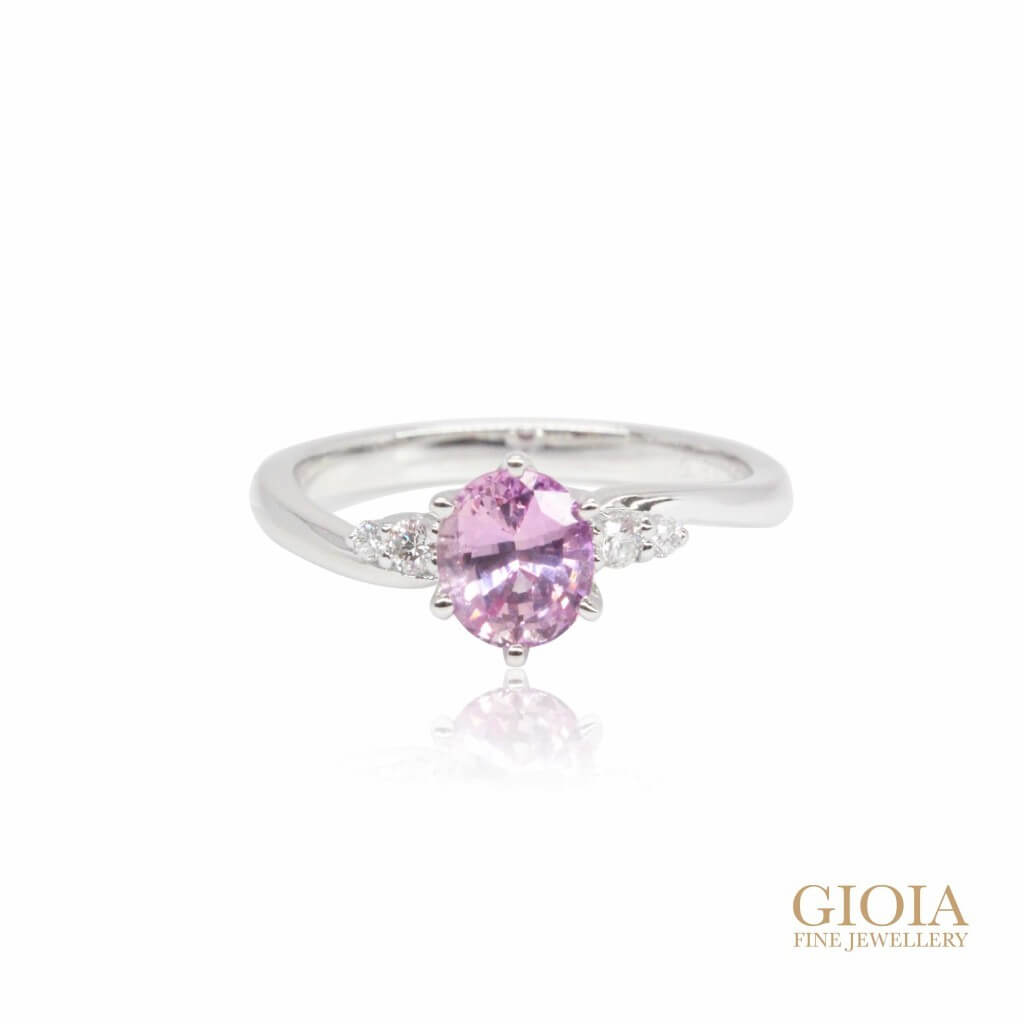 Custom made Pink Sapphire Engagement Ring | Local Singapore Customised Jeweller
