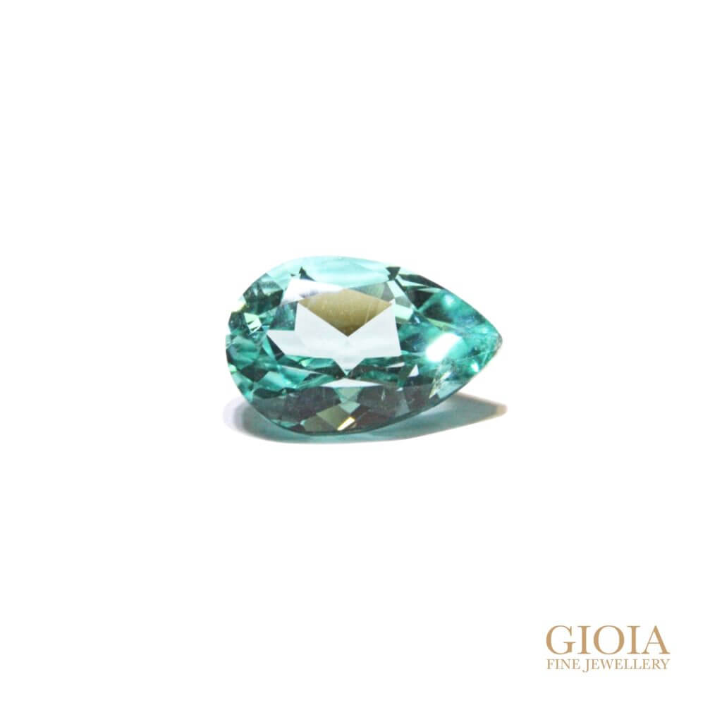 Pear Paraiba Tourmaline Gemstone | Customised engagement ring | Local Singapore Jeweller
