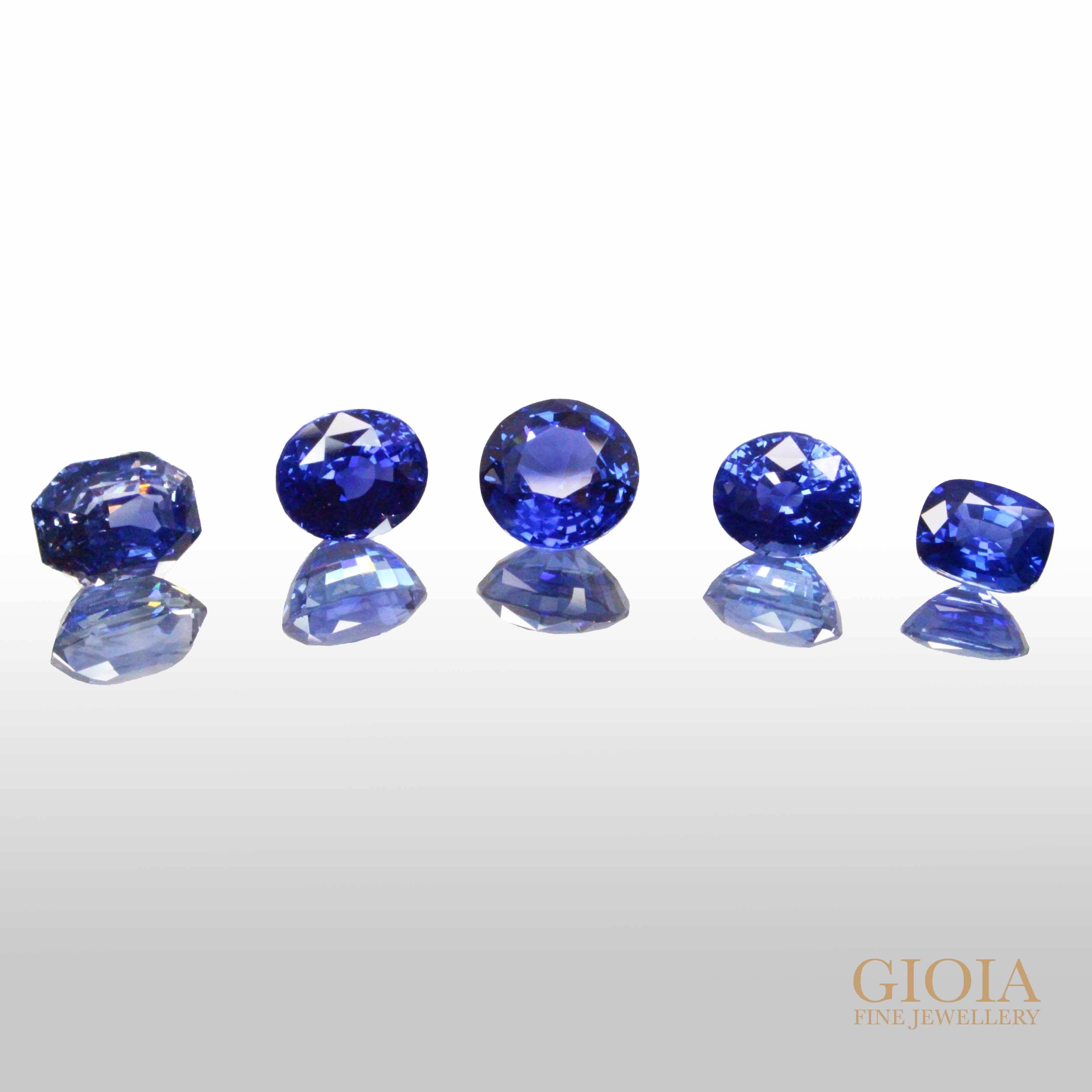 Rare unheated Blue Sapphire   Custom made wedding engagement ring with sapphire   Local Singapore Customised Jeweller