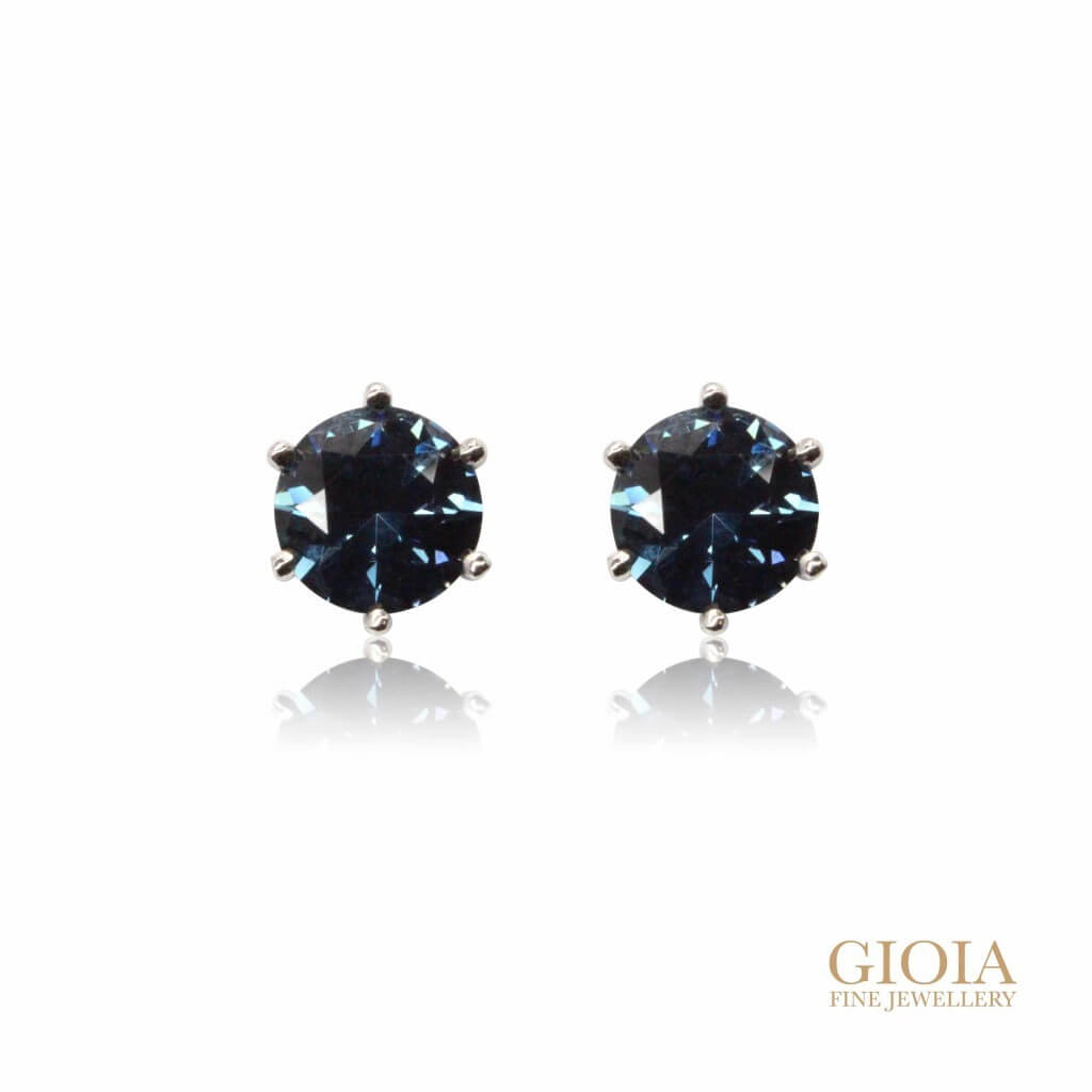 Customised Blue Spinel Earrings | Local Singapore bespoke jeweller