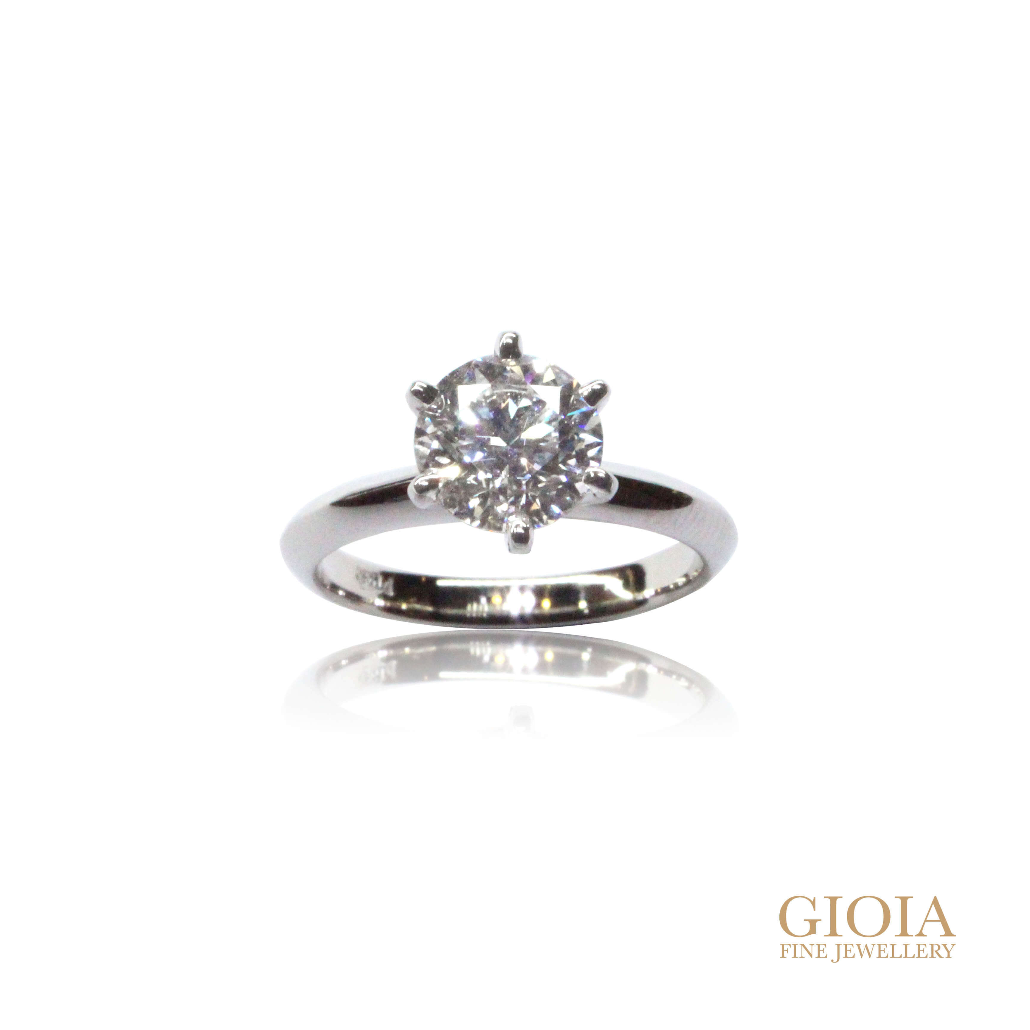customised solitaire ring with diamond by local singapore customised Jeweller