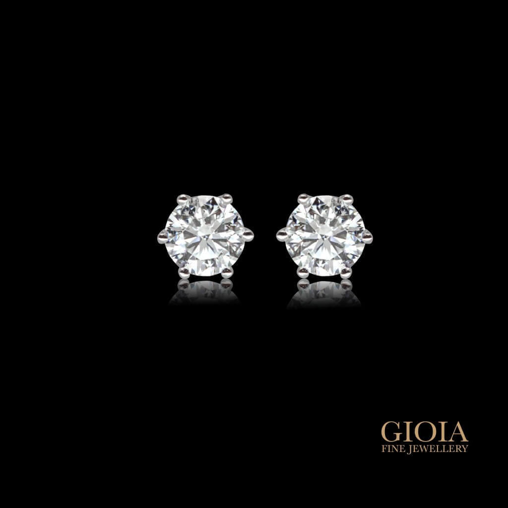 diamond earring stud | Local customised jeweller