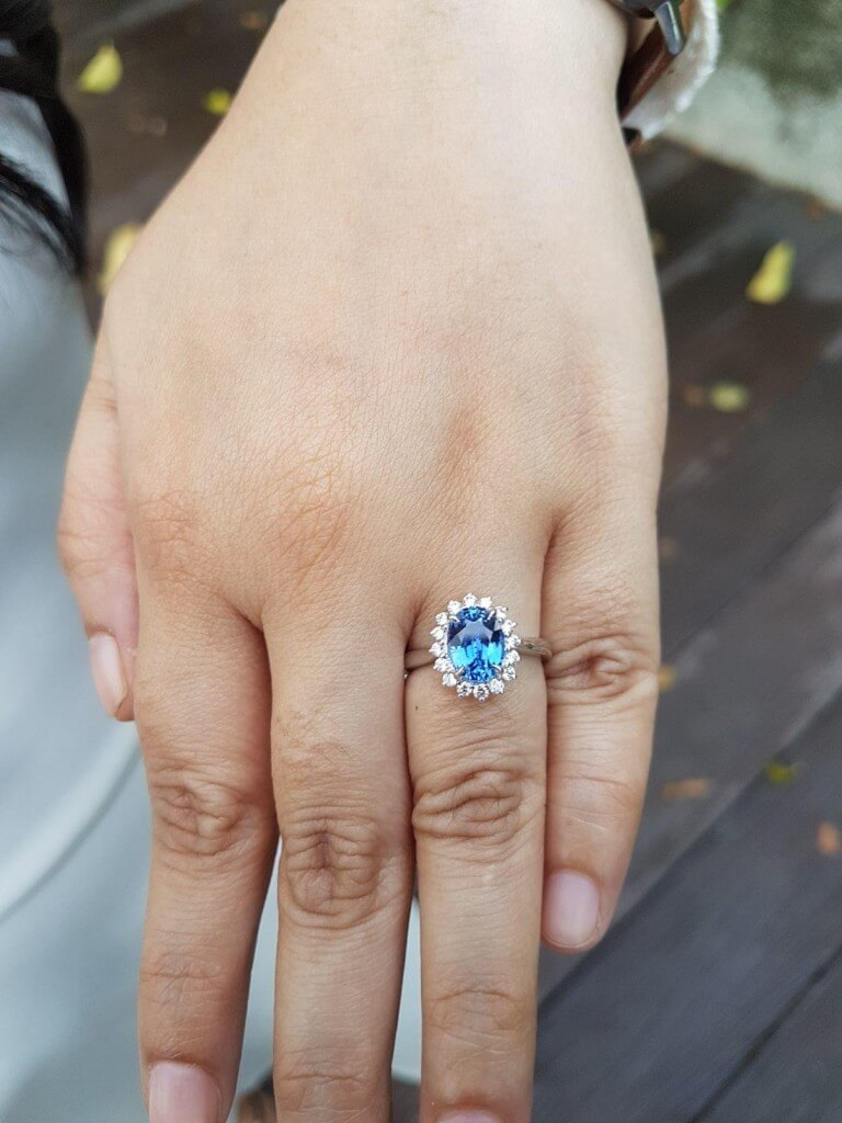 Personalised Sapphire Engagement Ring - Customised Engagement ring | Custom made Jeweler