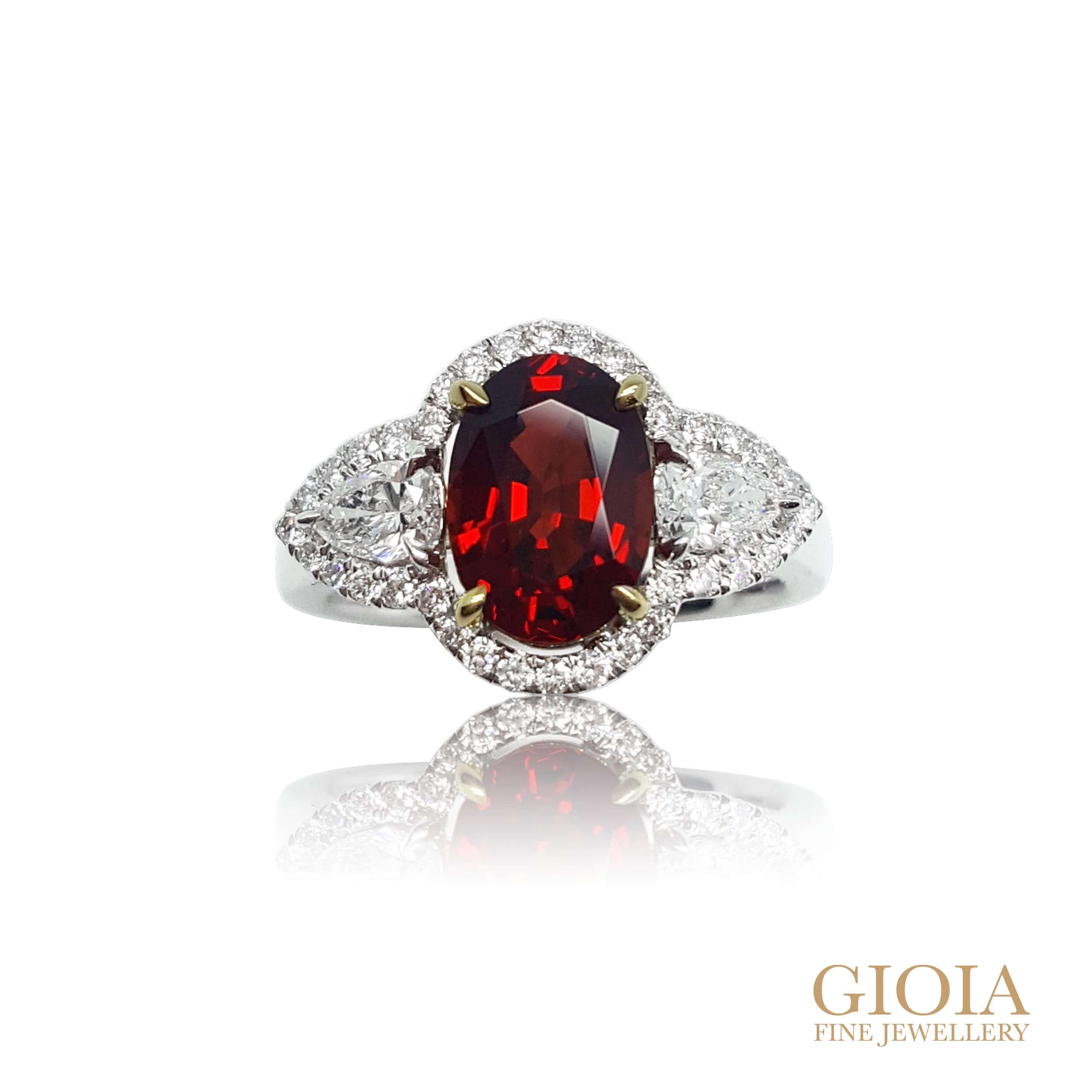Vivid Red Spinel Ring