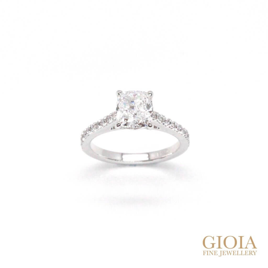 Cushion Diamond Wedding Proposal Ring | Local Singapore Custom made Jewellery