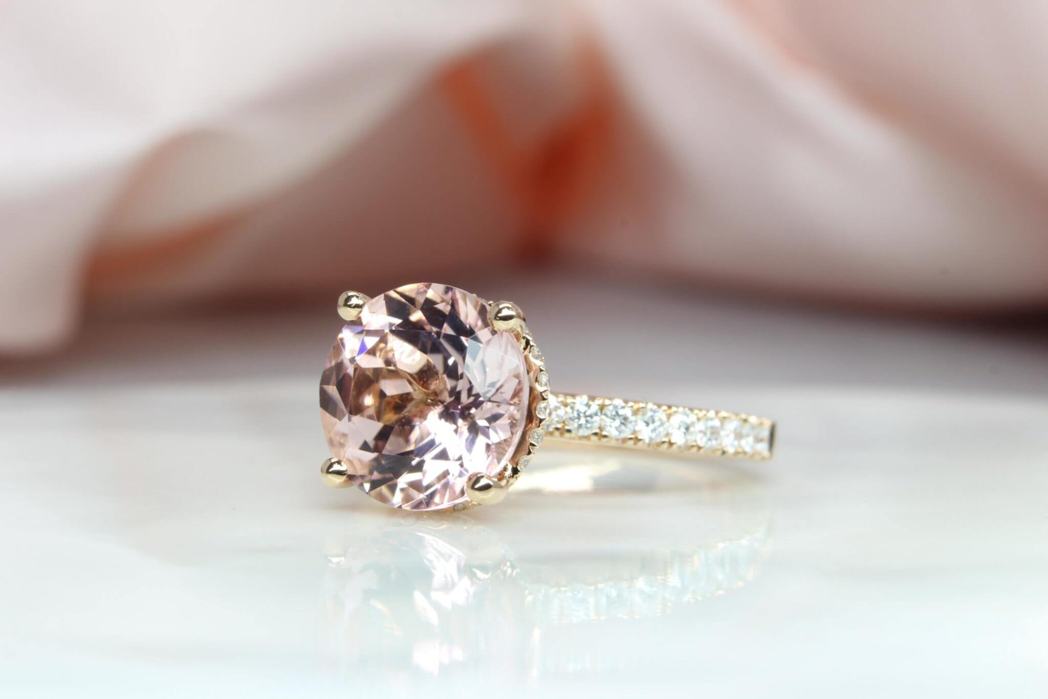 Morganite- pink gemstone for Wedding Engagment | Customised your proposal ring with GIOIA Fine Jewellery | Local Singapore Jeweller