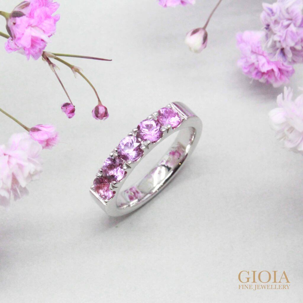 custom made pink sapphire gemstone as gift - customised ring jewellery | Local Singapore Trusted Custom made Jeweller