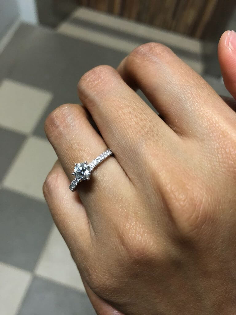 Diamond wedding ring for proposal - Local Singapore Custom made Jeweller