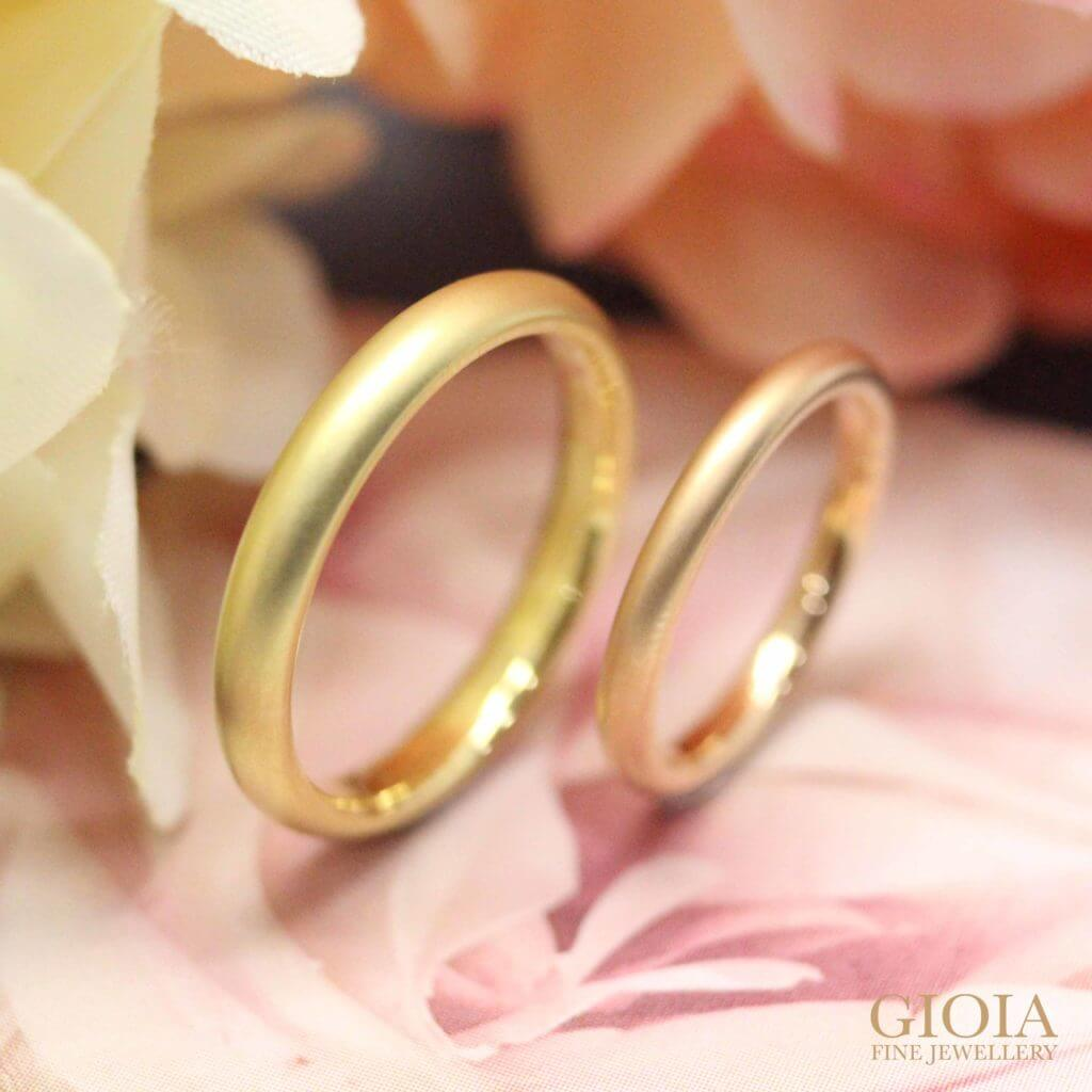 customised a simple and unique wedding bands in yellow and rose gold with GIOIA Fine Jewellery | Bespoke Jewellery
