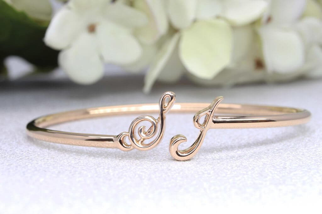 Customised Si Dian Jin 四点金 Gold, Custom made gold Bangle in Rose gold, White gold and Natural white gold, Customised you Wedding Jewellery Si Dian Jin with GIOIA Fine Jewellery - Wedding Jewellery Local Singapore