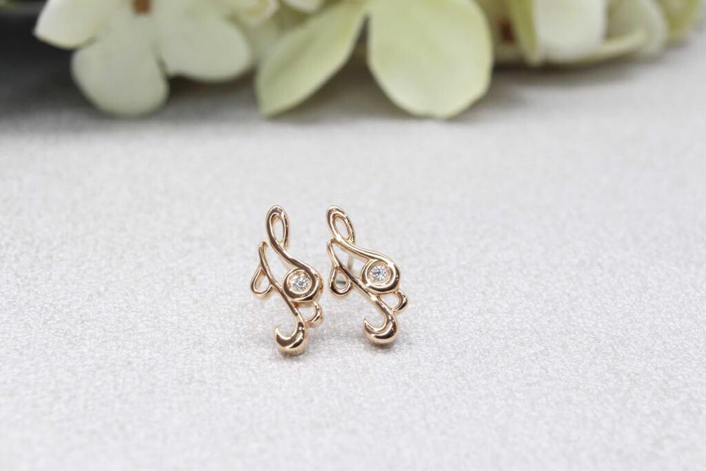 Customised Si Dian Jin 四点金 Gold SJ Earring - Wedding Jewellery