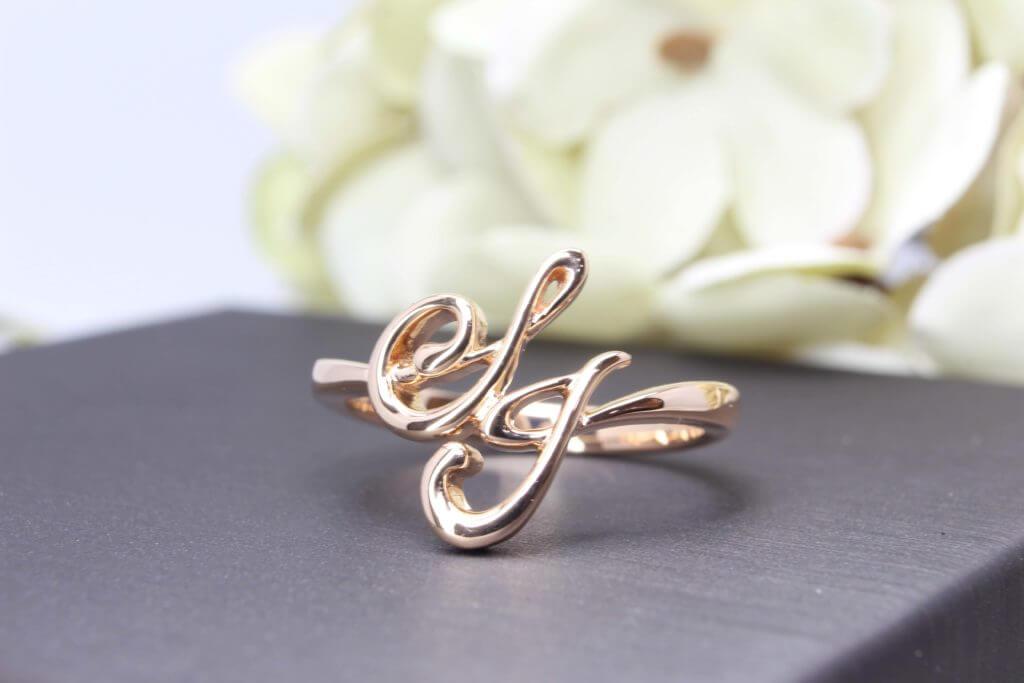 Customised Si Dian Jin 四点金 Gold SJ Ring - Wedding Jewellery