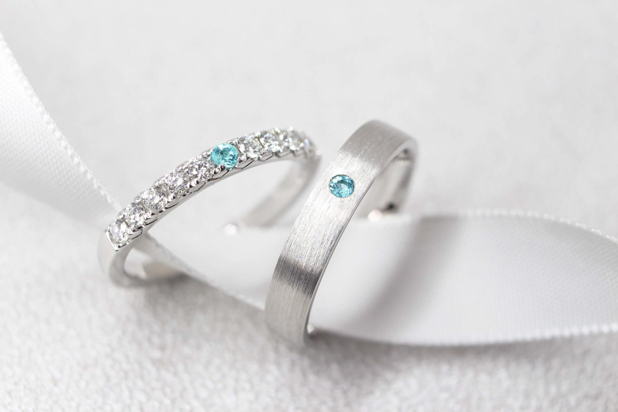 Brazil Paraiba Wedding Bands