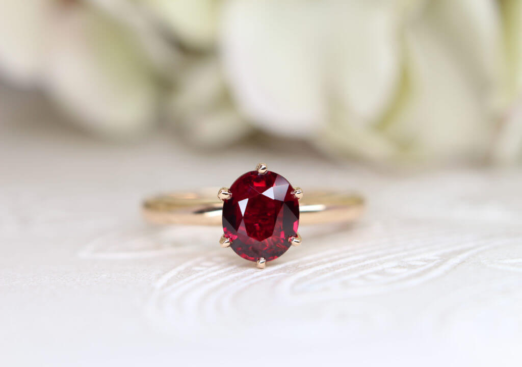 Vivid red ruby, natural heat and unheated; premium colour pigeon blood from Mozambique to Burma origin | Local Singapore Private Jeweller in Customised Wedding Jewellery