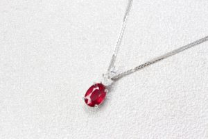 Customised Pendant with a touch of personal design, unique gift for wedding anniversary with Ruby Pigeon Blood Natural Colour Gemstone | Local Singapore Bespoke Jeweller in customised fine jewellery with coloured gemstone.
