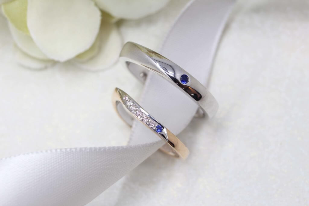 Customised Sapphire Wedding Bands, custom made to your style with unique design. Customised Wedding Bands with Blue Sapphire Gemstone | Local Jewellery in Customised Wedding Jewellery and Wedding Bands