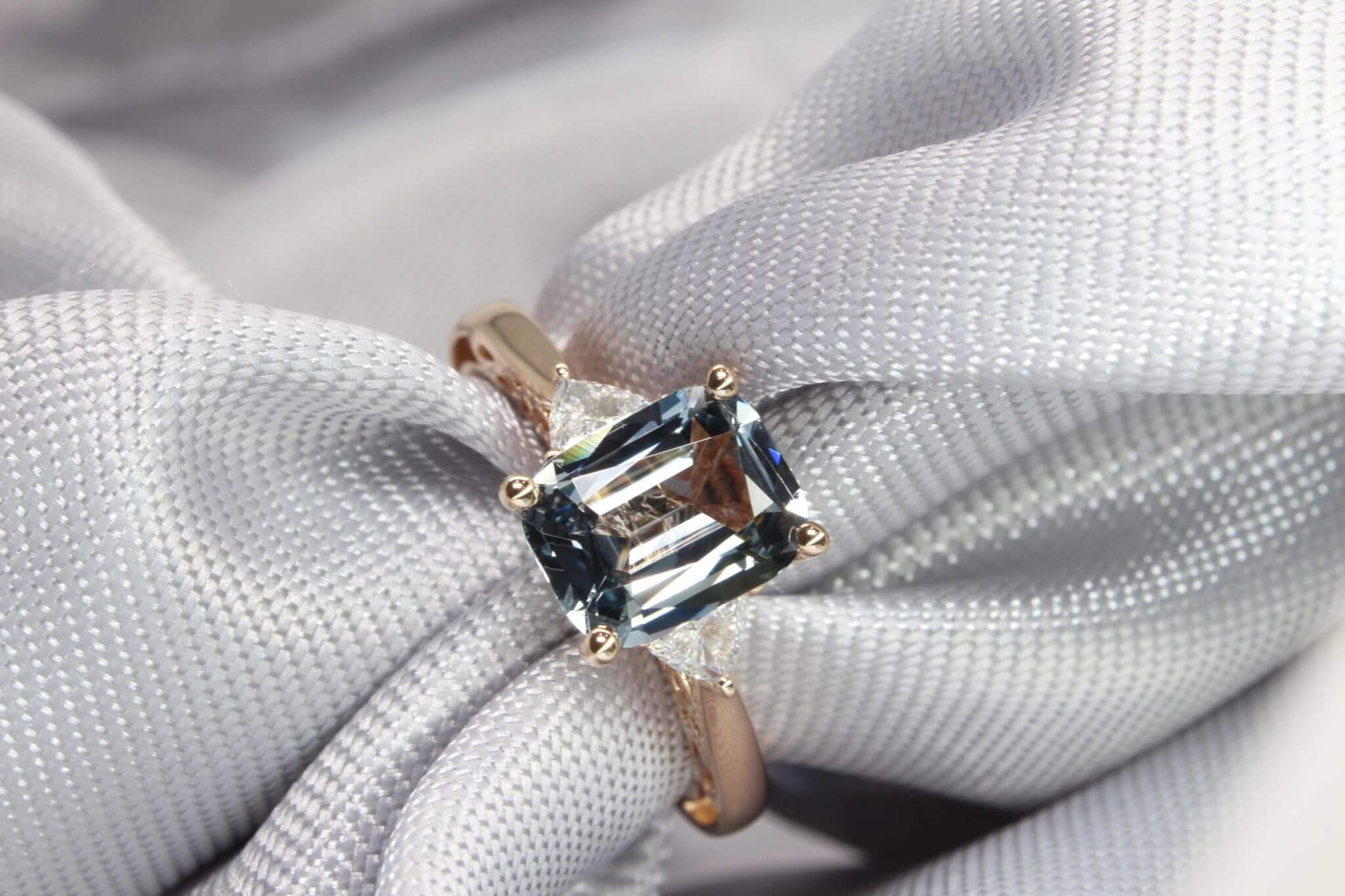 Bluish Grey Spinel Ring