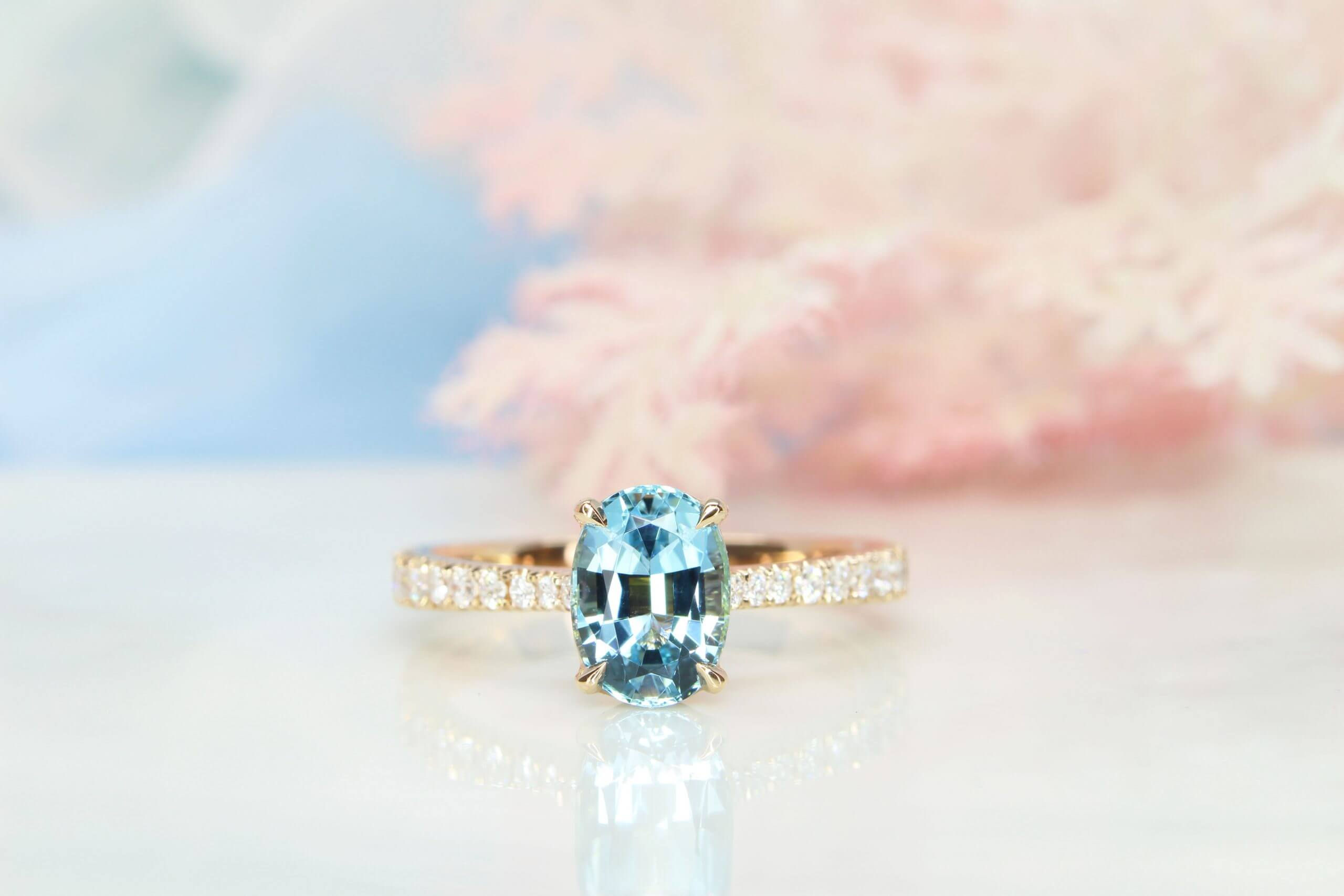 Aquamarine Ring - Customised Engagement Ring