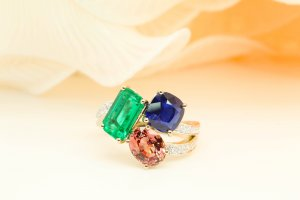 Family Birthstone Cluster Ring
