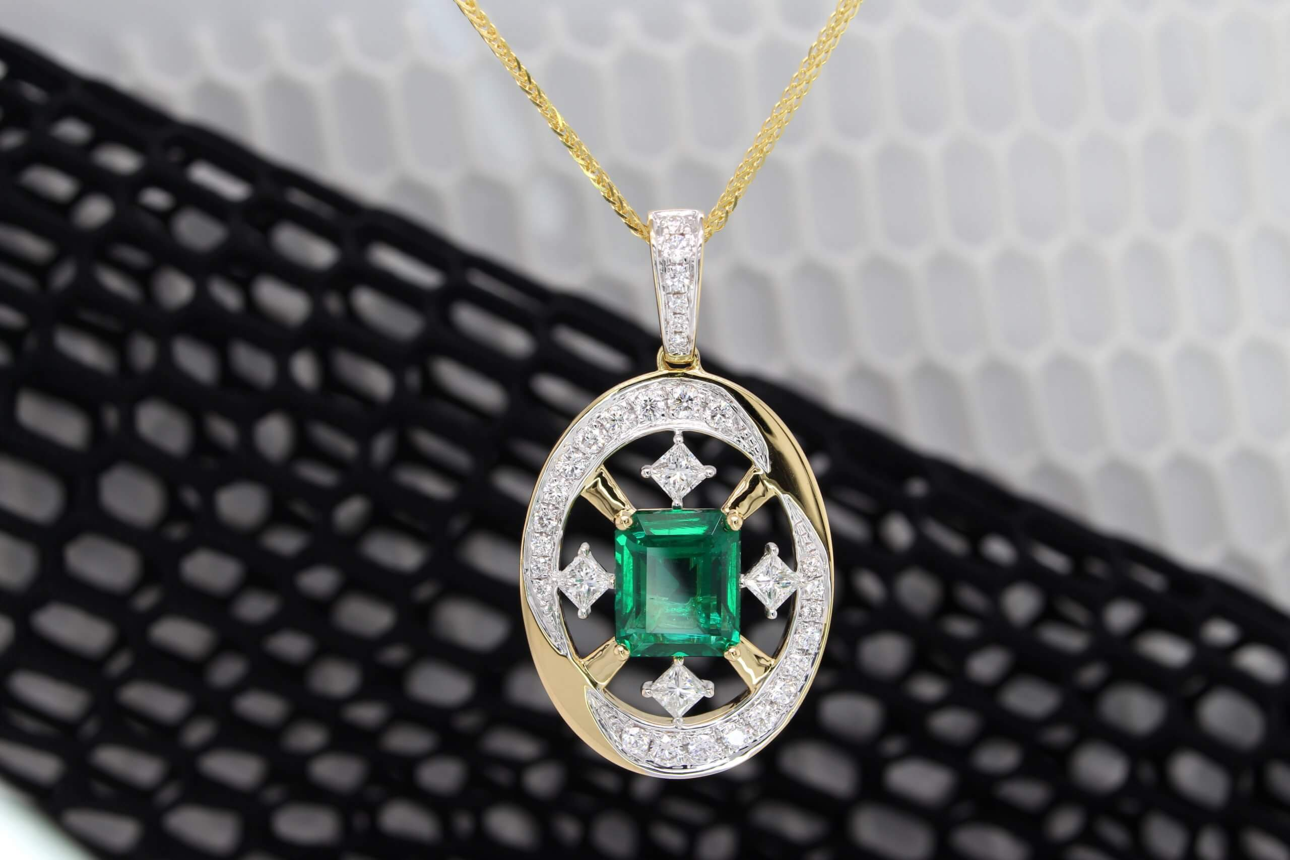 Catholic Pendant - Emerald Jewellery