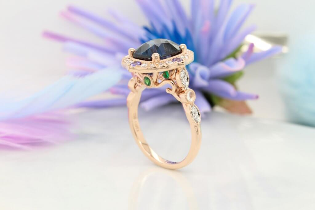 Birthstone Ring with Family Birth Month Gemstone Jewellery - Spinel, Tanzanite, Moonstone, Tsavorite to Emerald birthstone into a heirloom jewellery - Singapore