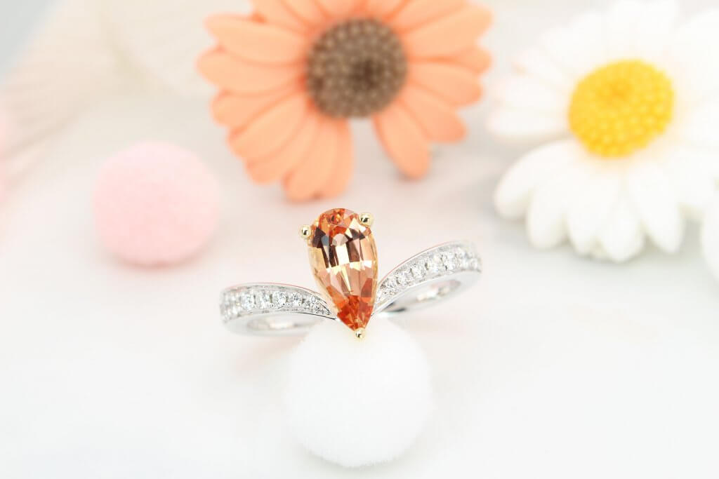 Imperial Topaz unique coloured shade of Golden to Orangy Pink Gemstone. November birthstone jewellery, unlike common blue colour shade   Customised Jewellery